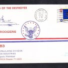 Destroyer USS JOHN RODGERS DD-983 KEEL LAYING Naval Cover
