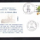 Battleship USS ALABAMA BB-8 Commemorative Naval Cover