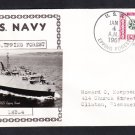 Dock Landing Ship USS EPPING FOREST LSD-4 Real Photo Cachet Naval Cover