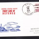 Destroyer Tender USS EVERGLADES AD-24 1955 Naval Cover