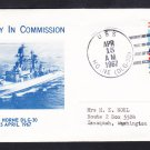 Guided Missile Destroyer USS HORNE DLG-30 COMMISSIONING Naval Cover