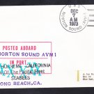 USS NORTON SOUND AVM-1 Long Beach CA Naval Cover