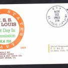 Amphibious Cargo Ship USS ST. LOUIS LKA-116 COMMISSIONING BECK #B819 Naval Cover