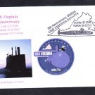 Nuclear Attack Submarine USS VIRGINIA SSN-774 5th Anniversary Naval Cover