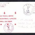 Assault Ship USS MOUNTRAIL APA-213 Last Day Postal Service Naval Cover