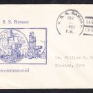 Minelayer USS RAMSAY DM-16 Decommissioning 1937 Naval Cover
