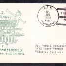 Destroyer USS FARRAGUT DD-348 COMMISSIONING 1934 Naval Cover