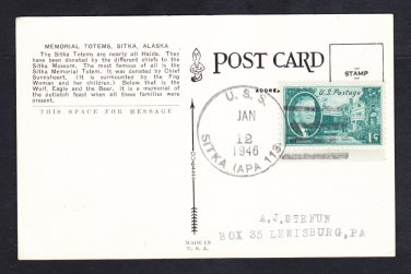 Attack Transport USS SITKA APA-113 1946 Naval Cover