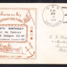 Destroyer USS DAHLGREN DD-187 18th Birthday 1938 Naval Cover