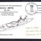 Destroyer USS DEYO DD-989 COMMISSIONING Naval Cover