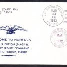 MSC Survey Ship USNS DUTTON T-AGS 22 Norfolk VA Naval Cover