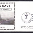 Destroyer Escort USS EDMONDS DE-406 Photo Cachet Naval Cover