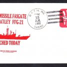Guided Missile Frigate USS FLATLEY FFG-21 LAUNCHING Decatur Chapter Naval Cover