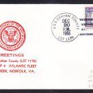Tank Landing Ship USS GRAHAM COUNTY LST-1176 Greetings Norfolk VA Naval Cover