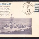Destroyer Escort USS MARSH DE-699 Naval Cover MhCachets 1 MADE