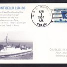 Amphibious Dock Landing Ship USS MONTICELLO LSD-35 Naval Cover MhCachets 1 MADE