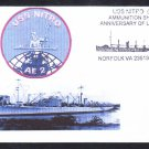Ammunition Ship USS NITRO AE-2 Launch Anniversary Naval Cover