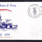 Destroyer Escort USS ROBERT E. PEARY DE-1073 COMMISSIONING Naval Cover