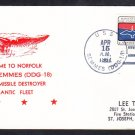 Guided Missile Destroyer USS SEMMES DDG-18 Welcome to Norfolk VA Naval Cover