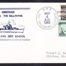 Destroyer USS THE SULLIVANS DD-537 Greetings From Norfolk VA Naval Cover