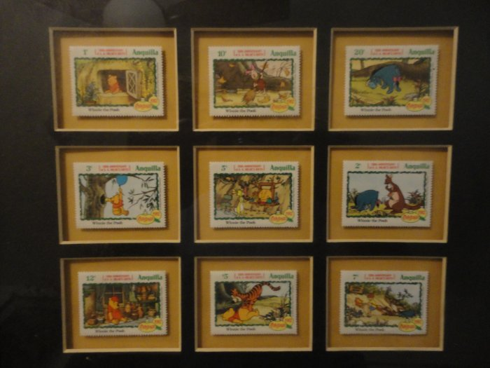 Winnie the pooh anguilla stamps