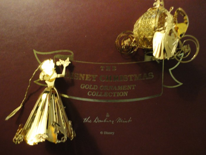 disney danbury mint 23k gold ornaments