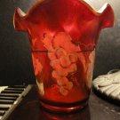 Fenton Vase - Ruby Amberina Stretch Flip Vase