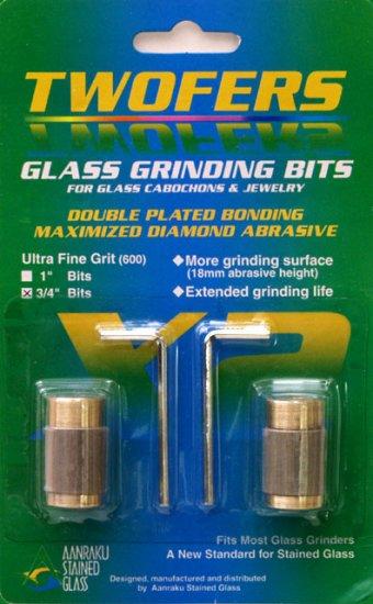 """Aanraku® 3/4"""" TWOFERS 2 bit set - 600 grit, Ultra fine"""