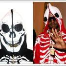 Red LRG Dead Serious Hoodie - (Mesh Eyes, Glow in the Dark Skeleton, Full Zip-Back)
