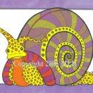 Sylvia Snail (aceo print)