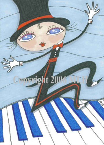 Dance to the Music (aceo print)