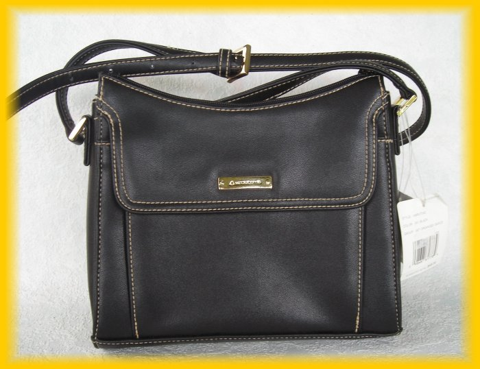 Liz Claiborne Accessories Purse - Black Get Organized Purse Unused W/$48 Tag - FREE Shipping