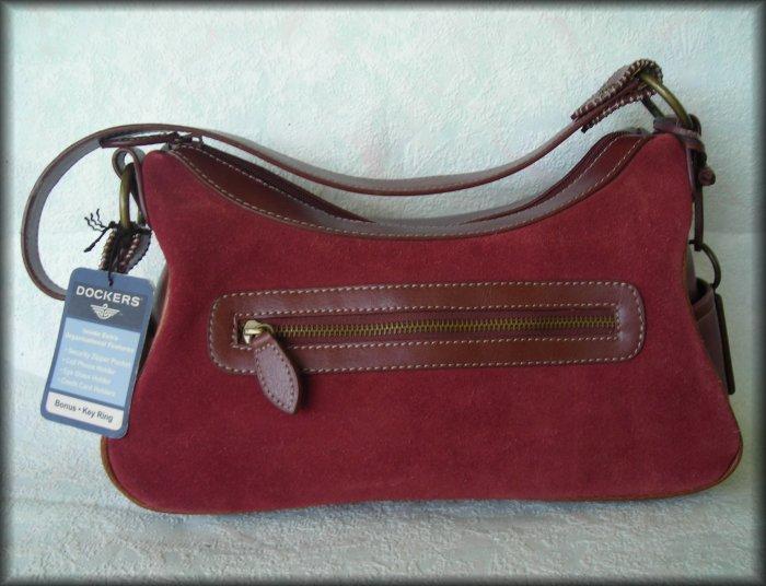 Dockers Purse - Satchel Style Handbag - Rust Color W/ Original Hang Tag - FREE Shipping