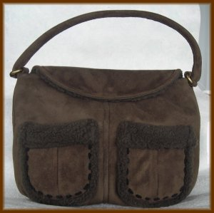 The Gap Brown Faux Fur Purse - Original $34.50 Tag on Handbag - FREE Shipping