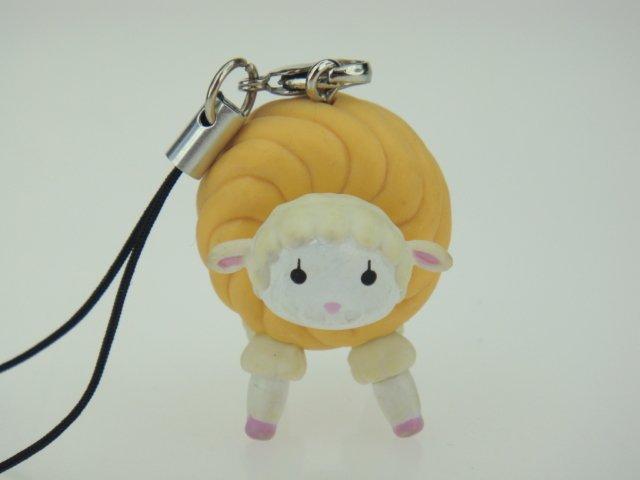 Japan Mister Donut Shop Sheep Figure Phone Charm Strap
