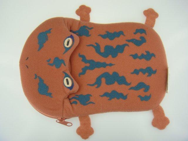 TOMY Dream Energy 2005 Naruto Frog Toad Fluff Plush Doll Purse Bag