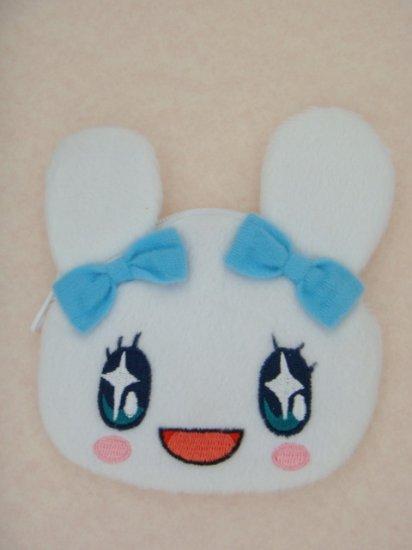 Lovely Cute Bowknot White Rabbit Fluff Plush Doll Purse Bag