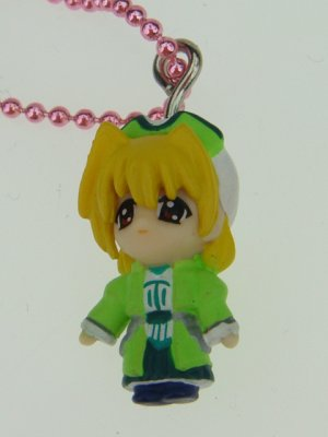 Yujin Magical Girl Lyrical Nanoha Syamaru Figure Phone Charm Strap Keychain