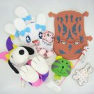 SNOOPY Pink Leopard Fluff Plush Doll Frog Toad Rabbit Purse Bag Other x8