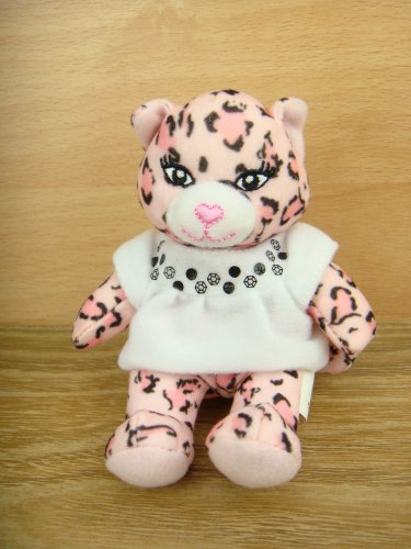 McDonalds 2009 Builld A Bear Workshop Pawfect Pink Leopard Fluff Plush Doll