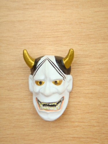 Japanese Mini Noh Mask Hannya Kabuki Kagura Devil Demon Wisdom Mask Model Figure