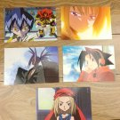 Japanese Anime Jump Shaman King Card x5 pages L009