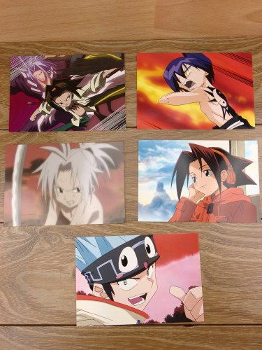 Japanese Anime Jump Shaman King Card x5 pages M001