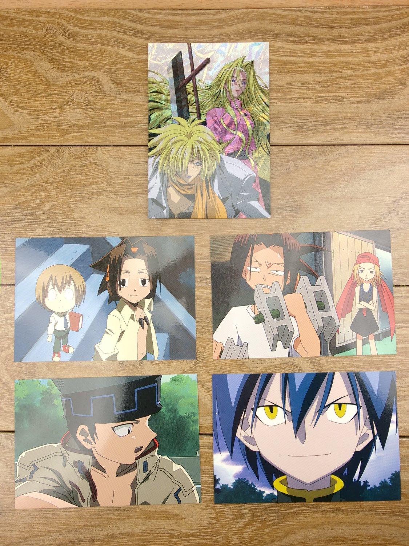 Japanese Anime Jump Shaman King Card x5 pages M023