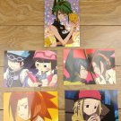 Japanese Anime Jump Shaman King Card x5 pages M032
