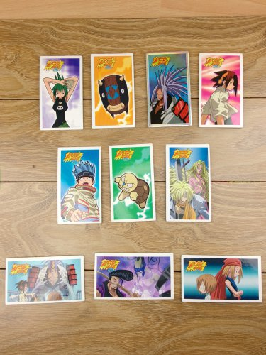 Japanese TOMY Shaman King Menko Megamen Card x10 pages N011