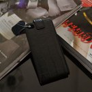 Genuine Black Flip leather case cover for Iphone 4s /4