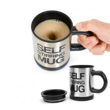 Stainless Steel Electric Stirring Beverage Mixing Mug