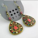 Multicolor Classic Vintage Antique Fashion Pierced Earrings