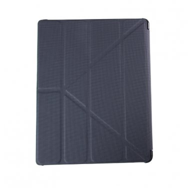 Black Leatherette Smart Cover Case for iPad 2 , iPad 3 , iPad 4